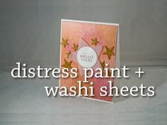 Distress Paint + Washi Tape Sheets = a surprisingly awesome combination {by Britta Swiderski}