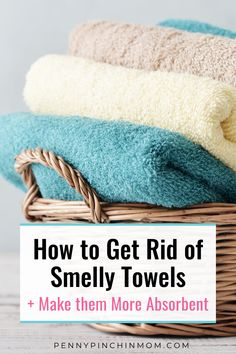Do you have smelly towels? Are they not quite as absorbent as they use to be? There is a simple trick I use to remove the smell from towels. And, it just takes TWO simple products. Household Cleaning Tips, Diy Cleaning Products, Cleaning Hacks, Smelly Towels, Old Towels, Washing Machine Cleaner, Butterfly Coloring Page, Natural Cleaners, Diy Pins