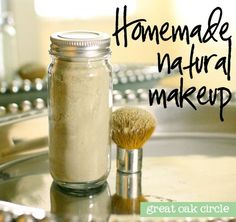 Natural makeup powder