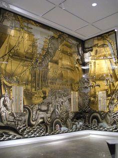 Jean Dupas Art Deco HISTORY OF NAVIGATION Mural 1934 Glass Paint Gold Leaf NYC Metropolitan Museum of Art NEW YORK CITY 1 by Christian Montone, via Flickr
