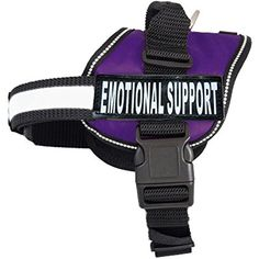 EMOTIONAL SUPPORT Nylon Dog Vest Harness. Purchase comes with 2 reflective EMOTIONAL SUPPORT velcro pathces. PLEASE MEASURE your dog before ordering -- To view further for this item, visit the image link. (This is an affiliate link) #CollarsHarnessesLeashes