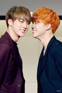 Im not even sure if there is a ship for Jin and Jimin but Im guessing its JinMin and I ship XDD