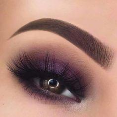 Eyes violet dark brown