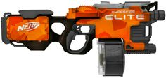 Nerf Hyperfire custom paintjob Orange Black by Adam Kuling