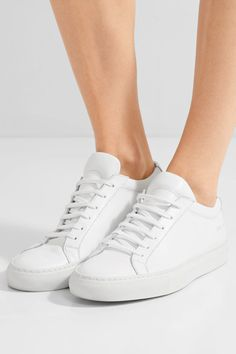 Rubber sole measures approximately 25mm/ 1 inch White leather Lace-up front Made in Italy As seen in The EDIT magazine