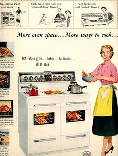 vintage pinup appliance 1954 advertisement by FrenchFrouFrou, $12.95