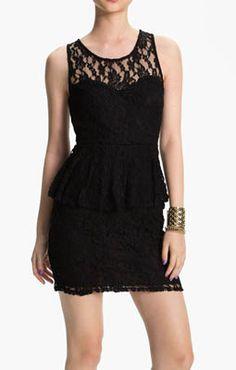 Lush Lace Peplum Dress