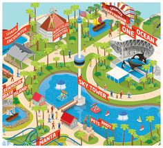 We worked with Cubo in London to create all new maps for all of Sea Worlds parks in Orlando.