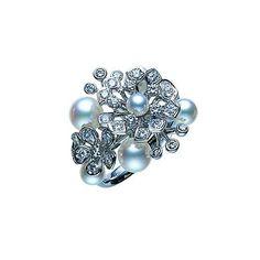 Ad: Mikimoto Ladies Diamond And Pearl Floral Bouquet Ring Wedding Rings | Diamond Wedding Ring | Diamond Engagement Ring | Diamond Wedding Band | White Gold Wedding Ring | White Gold Wedding Band | White Gold Engagement Ring | Pearl Wedding Ring | Pearl Engagement Ring | Pearl Wedding Band |