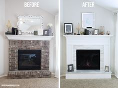 Top Useful Tips: Stacked Marble Fireplace fireplace kitchen awesome.Gas Fireplace Update fireplace built ins with doors.Fireplace Built Ins Vaulted Ceiling. Brick Fireplace Makeover, Fireplace Built Ins, Shiplap Fireplace, Old Fireplace, Victorian Fireplace, White Fireplace, Farmhouse Fireplace, Fireplace Surrounds, Fireplace Design
