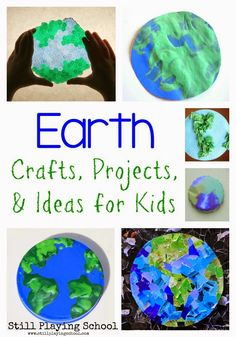 Still Playing School: Earth Day Crafts, Projects, and Ideas for Kids Earth Day Activities, Spring Activities, Preschool Activities, Kindergarten Themes, Preschool Curriculum, Preschool Classroom, Creative Activities, Classroom Themes, Homeschool