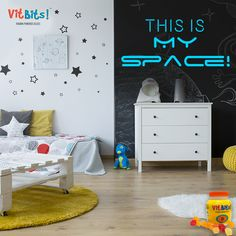 Give your lil astronaut the space they need to be themselves. You can customize their room with wallpapers that reflect their dreams and ambitions. Kids also grow up real fast and tend to accumulate a lot of stuff: from toys to books to clothes and gadgets. So make sure to plan your kid's room with adequate storage facilities for the future.