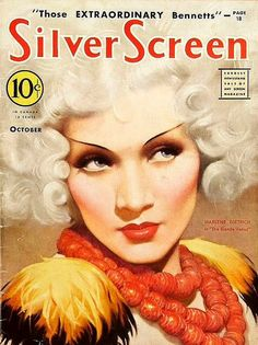 Silver Screen Magazine. Marlene Dietrich, October, 1932