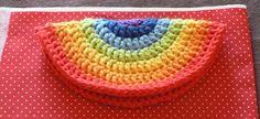 Rainbow Crochet Zipped Coin Purse Tutorial
