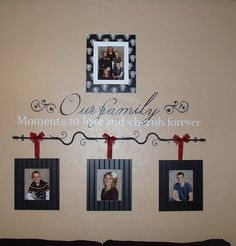 Idea for grandchildren - This won't work for me but it is a cute idea. I have too many grandchildren and my wall wouldn't be big enough!