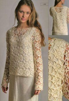 crochet, simple motif, elegant result Como inspiracion para intentar un motivo similar