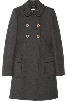 makes me excited for the colder weather / wool princess coat / miu miu