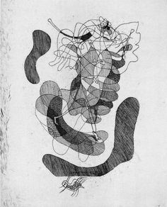 Etching from the unpublished 'Theogonies' - by Georges Braque, 1932
