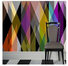 "Cole & Son ""Circus"" Geometric Wallpaper."
