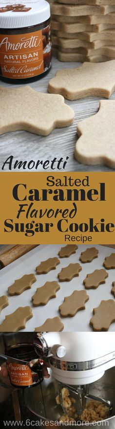 Salted Caramel No Chill No Spread Sugar Cookies! by samanthasam Cut Out Cookie Recipe, Cut Out Cookies, Iced Cookies, Sugar Cookies Recipe, No Bake Cookies, Cookie Desserts, Yummy Cookies, Cake Cookies, Cookie Recipes