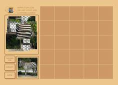 Puzzle ze zwierzętami: orzeł, zebra, puma, smoki - dość trudne