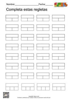 plantilla-regletas Teaching Schools, Teaching Math, Professor, Sensory Stimulation, Math Games, How To Plan, Jaco, Ideas, Kids Math