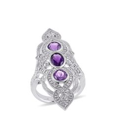 Another great find on #zulily! Amethyst & Diamond Ring by Delmar #zulilyfinds