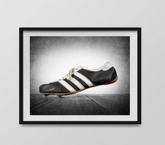 Vintage Track Shoe Photo Print Boys Room Wall by shawnstpeter