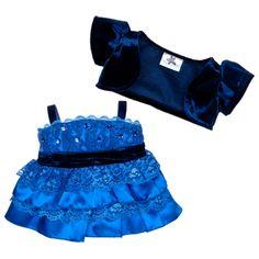 Blue Tiered Dress & Jacket 2 pc.