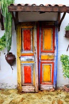 unusual and creative painted doors around the world doors entrance colour Street Door Art. Creative Painted Doors Around The World. Cool Doors, Unique Doors, Door Knockers, Door Knobs, When One Door Closes, Painted Doors, Spanish Style, Closed Doors, Doorway