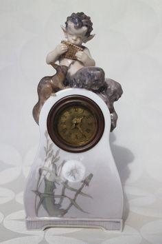 Royal Copenhagen 1922 Faun Clock Squirrel Art Nouveau - Bing Grondahl