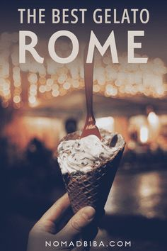 Featuring 14 fantastic places, this is the ultimate guide for finding the best gelato in Rome, Italy. We've also included a map and useful tips to help you find your way! What to eat in Rome Italy Travel Tips, Rome Travel, Europe Destinations, Best Gelato In Rome, Italy Vacation, Italy Trip, Rome Italy, Things To Do In Italy, Drinking Around The World