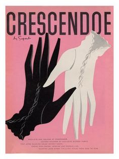 Three colours are all it takes to make this 1930s Credcendoe glove ad endlessly chic. #vintage #gloves #as #1930s #fashion #accessories