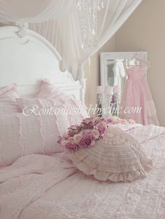 Shabby chic bedding Shabby chic ev dekorasyonu Pastel pembe