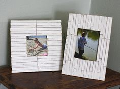 Beach Frames: Cottage Slat Style, by Amanda Formaro of Crafts by Amanda