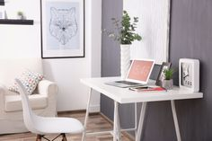 If you're looking for design & layout ideas for your home office, then this article will help you. Modern home office design ideas are for small & big room. Home Office Layouts, Home Office Table, Home Office Organization, Home Office Decor, Home Decor, Office Ideas, Small House Furniture, Home Furniture, Furniture Ideas