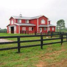 Horse barn with a house