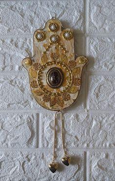 Hamsa Art, My Etsy Shop, Brooch, Wall Art, Check, Gold, Jewelry, Jewlery, Jewerly