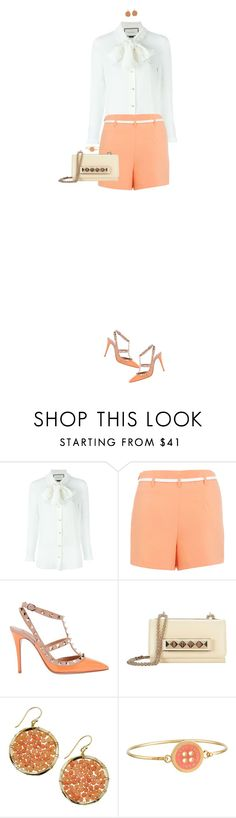 """""""High Waist Shorts"""" by ittie-kittie ❤ liked on Polyvore featuring Gucci, Miss Selfridge, Valentino, Panacea, Marc by Marc Jacobs, women's clothing, women, female, woman and misses"""