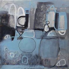 "Jenny Gray 'City and Sea', Oil on canvas, 24"" x 24"""