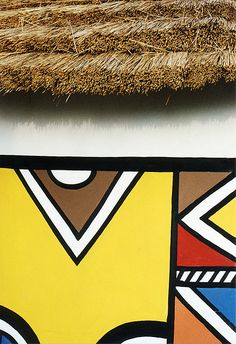 Inspired by: Ndebele Tribe of South Africa - pattern - tribal art - creative… South African Homes, South African Design, African Culture, African Art, African Style, Tribal Patterns, African Patterns, Bauhaus, Indigenous Art