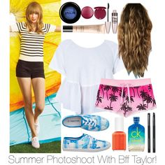 Summer Photoshoot w/ Taylor by avamancuso on Polyvore featuring polyvore fashion style Juicy Couture Keds maurices Japonesque Stila Guerlain Maybelline CK One Essie taylorswift avamancuso