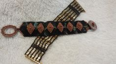 A couple more bracelets for you.  Designed and beaded by Sharon A. Kyser http://SharDonExclusives.blogspot.com