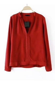 Red Embroidery Blouse