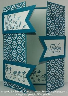 Easy  Card with a Gatefold -- has video tutorial, too --I like the three pieces for closures.