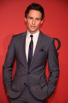 Eddie Redmayne at the Hugo Boss Autumn/Winter 2013 collection as part of Berlin Fashion Week.