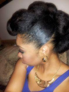 Tiffany Nichols Design: Teyonah Parris inspired Fab Natural Hair Updo
