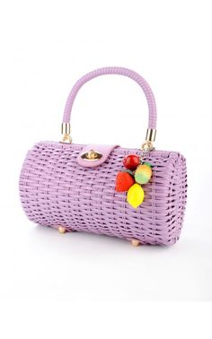 Wicker Baguette Purse on Pinup Girl clothing. I'm so tempted to buy this purse. Resisting for now...