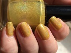 HEAR ME ROAR! gold holographic Game of Thrones - House Lannister inspired nail polish by Painted Sabotage by PaintedSabotage on Etsy