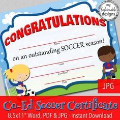 13+ Soccer Award Certificate Examples - Pdf, Psd, Ai with regard to Soccer Certificate Templates For Word
